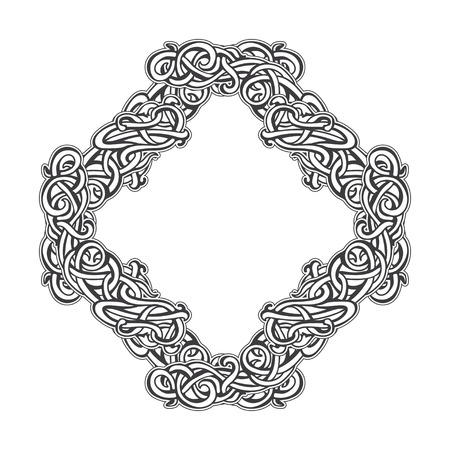 interlocking: Vintage frame of interlocking elements Illustration