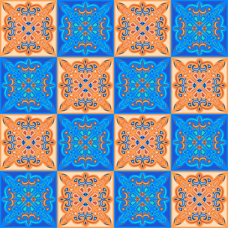 spanish tile: seamless pattern tile from the Arab, Portuguese, Spanish patterns and colors Illustration