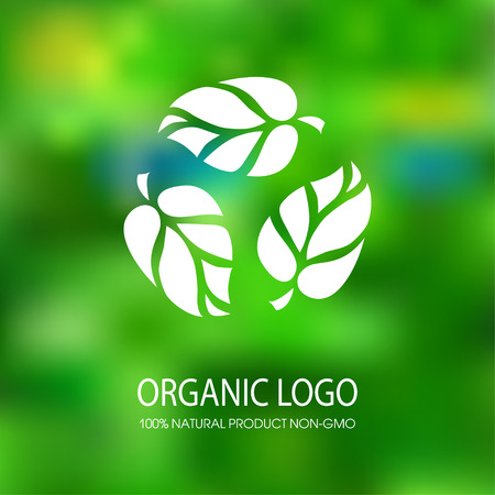 preservatives: logo organic products without preservatives and GMOs Illustration