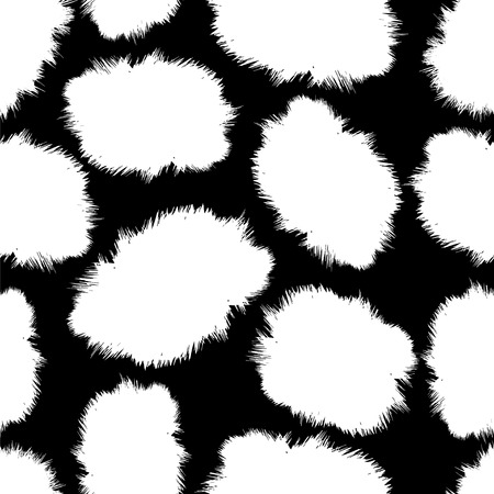 hid: seamless pattern - fluffy skin spots like the jaguar, cat, Dalmatians, a horse or a cow Illustration
