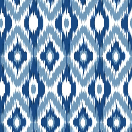 aztec: Blue Ikat Ogee Seamless Background Pattern