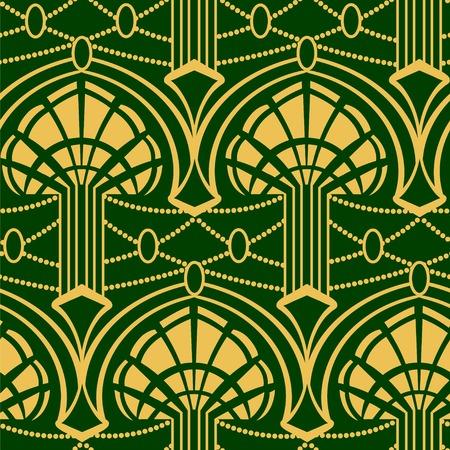 twentieth: Artdeko - seamless pattern in vintage style of the twenties beginning of the twentieth century Illustration