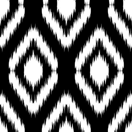 gobelin tapestry: Seamless monochrome Ikat Ogee Background Pattern