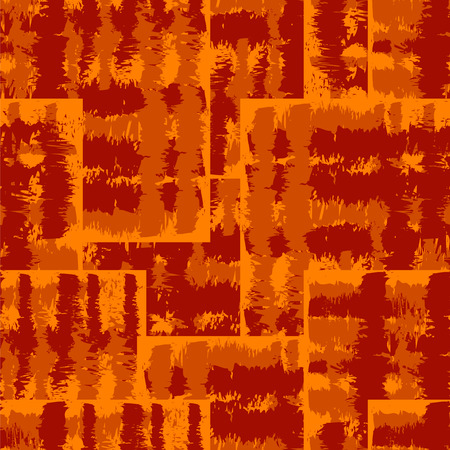 Seamless Ikat Pattern. Abstract orange and red background for textile design, wallpaper, surface textures