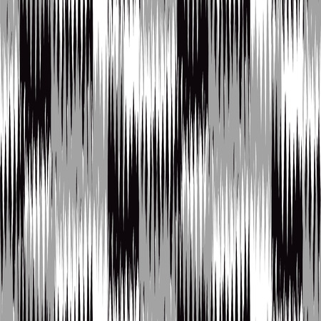 background textures: Seamless  Ikat Pattern. Abstract black and white background for textile design, wallpaper, surface textures Illustration