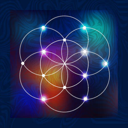 abstract vector background with consecrated symbols of sacred geometry Stock Illustratie