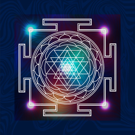 abstract vector background with consecrated symbols of sacred geometry Illustration