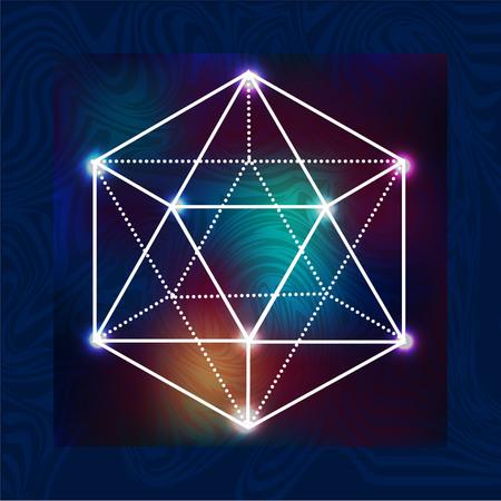 abstract vector background avec des symboles sacrés de la géométrie sacrée