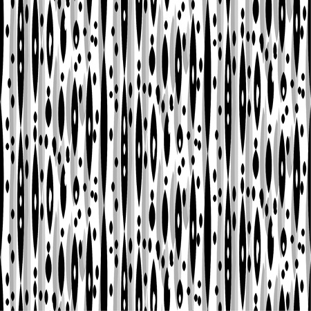 Seamless  Ikat Pattern. Abstract black and white background for textile design, wallpaper, surface textures Illustration