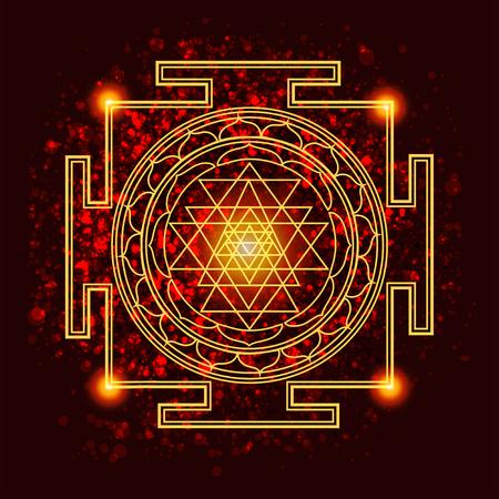 abstract vector achtergrond met gewijde symbolen van de Heilige Geometrie