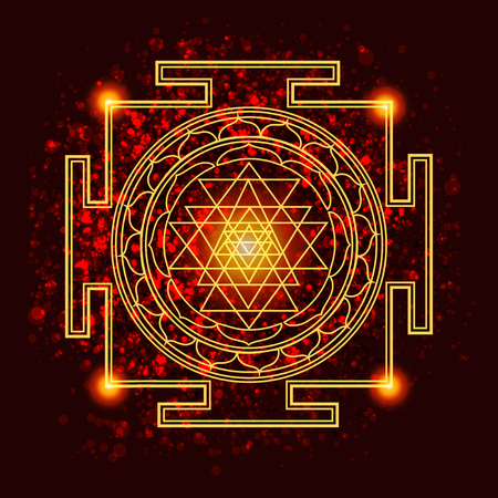 spiritually: abstract vector background with consecrated symbols of sacred geometry Illustration