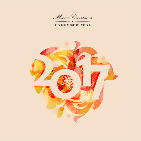 happy new years: Christmas card, poster, invitation to a colorful abstract background. Modern design. Vector illustration Illustration