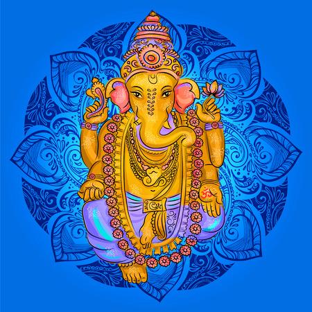 Lord Ganesh. Ganesh Puja. Ganesh Chaturthi. Es ist für Postkarten, Drucke, Textilien Tattoo verwendet