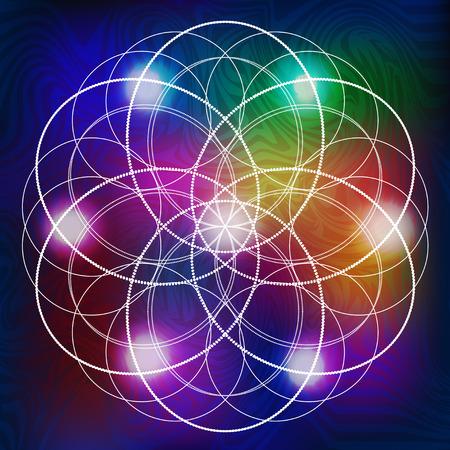 abstract vector background avec des symboles sacrés de la géométrie sacrée Vecteurs