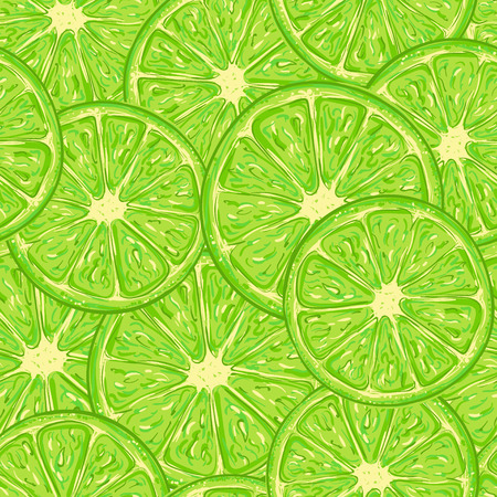 Lime pattern seamless consisting of a slice of citrus fruit Illustration