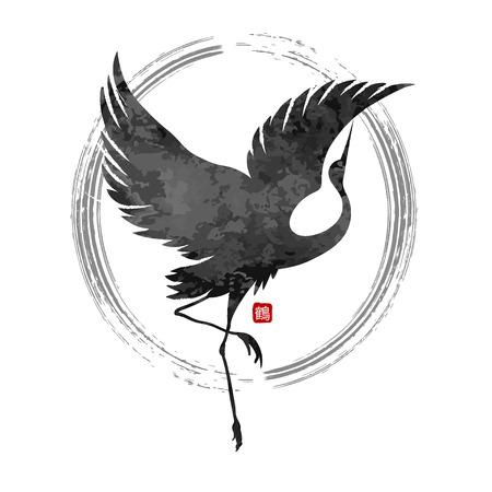 bird: grúas baile del vector