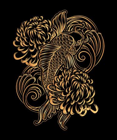 koi: koi carp tatoo