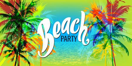 Greeting Beach party poster