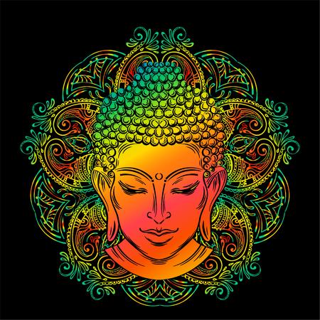 Buddhas head tattoo Stock Illustratie