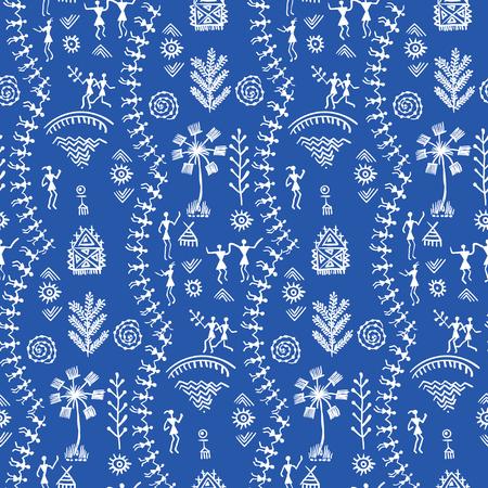 Warli tribal art Banco de Imagens - 79094389