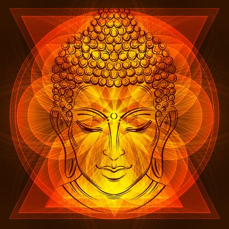 Buddhas head tattoo Reklamní fotografie
