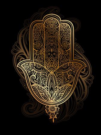 Hamsa Hand Of Fatima Vector