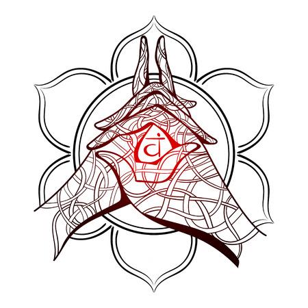 om sign: Yoga mudra vector illustration. Illustration