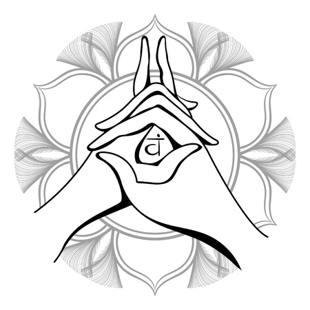 Yoga mudra Vector illustration.