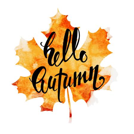 lettering Hello Autumn