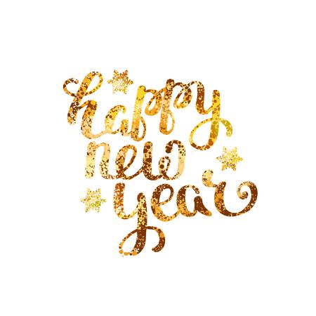 gold happy new year Illustration