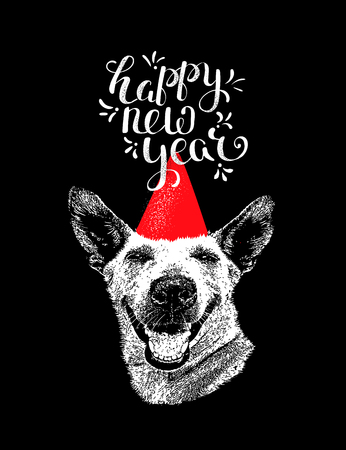Dog as a symbol of the new year 2018 Ilustrace