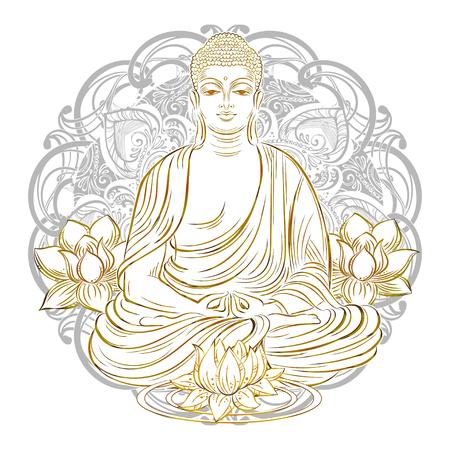 nirvana: Buddha in nirvana Illustration