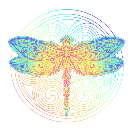 Dragonfly vector tattoo Ilustrace