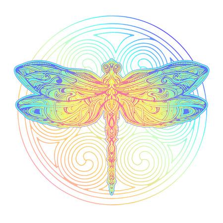 Tatuaggio vettoriale libellula Vettoriali