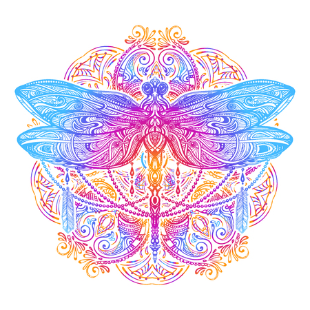 Dragonfly vector tattoo Stock Illustratie
