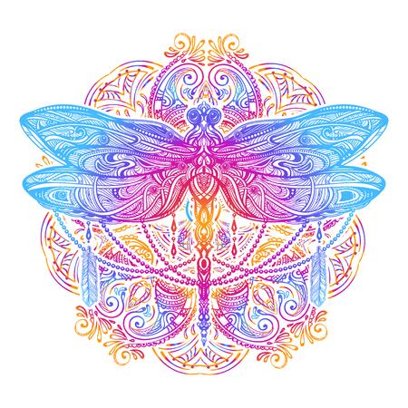 Dragonfly vector tattoo Vettoriali