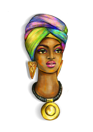 African Abstract girl
