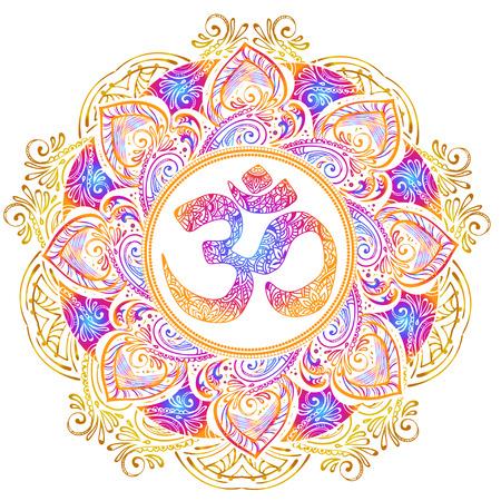Izolowane obrazu mandala ilustracji wektorowych. Ilustracje wektorowe