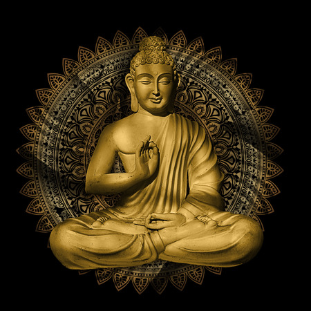 Seated Buddha in a Lotus Pose