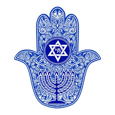 jewish hamsa tattoo Vettoriali