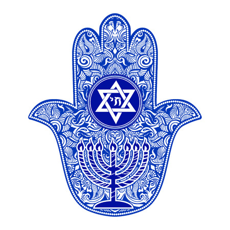 jewish hamsa tattoo Vectores