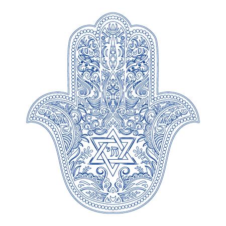 jewish hamsa tattoo Ilustração