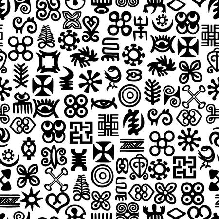 African Adinkra Pattern