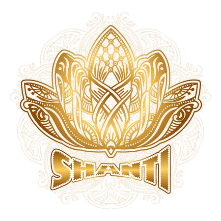 vector Lotus Shanti