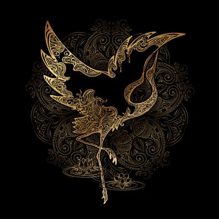grue de danse de tatouage