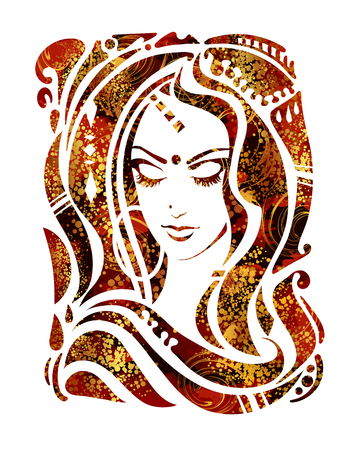 Indian woman vector vector illustration
