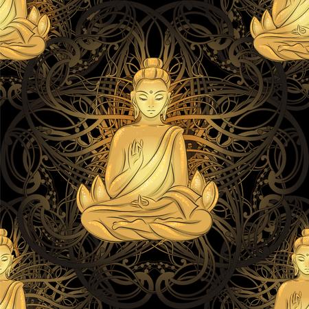 sitting Buddha pattern