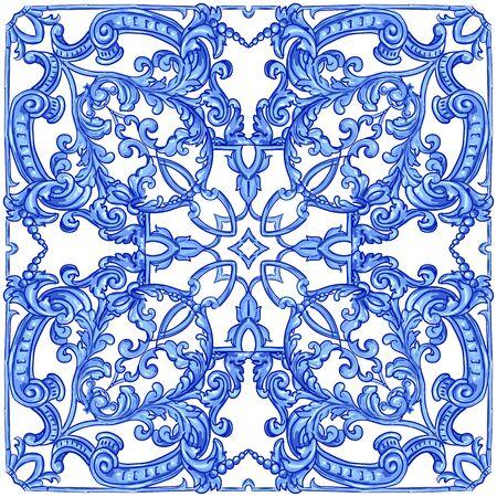 Azulejos portugiesisches Aquarell