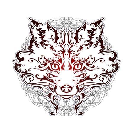 ornate muzzle fox