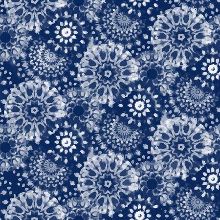SHIBORI DIGITAL nahtloses Muster Vektorgrafik